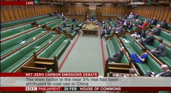 commons climate change debate
